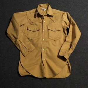 Vintage Woolrich Cotton Flannel Pearl Snap Shirt M